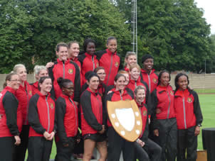 Army womens Athletics Team in the Inter Services Championships 2016