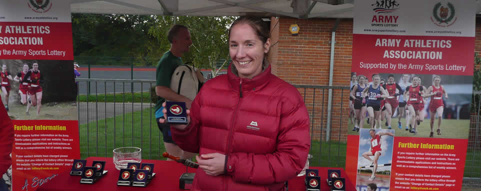 Army Athletics Association Womens winner Pte Roanna Vickers